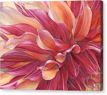 Ablaze Canvas Print by Sandy Haight