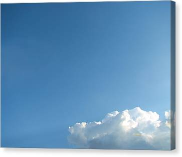 About A Cloud Canvas Print by Wendy J St Christopher