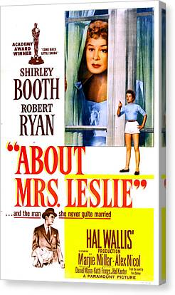About Mrs. Leslie, Us Poster, From Top Canvas Print by Everett