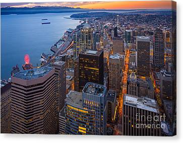 Above Seattle Canvas Print by Inge Johnsson
