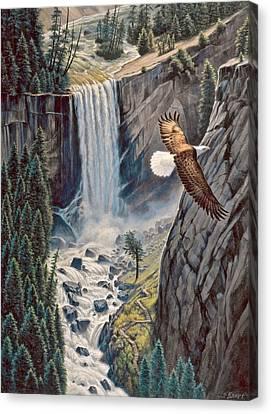 Above The Falls - Vernal Falls Canvas Print by Paul Krapf