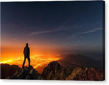 Above The Night Canvas Print by Evgeni Dinev