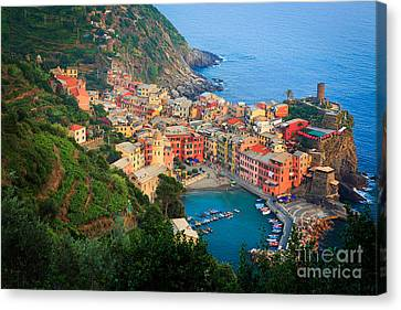 Above Vernazza Canvas Print by Inge Johnsson