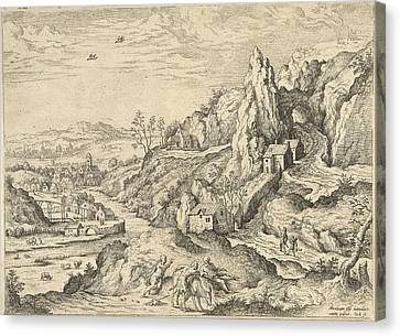 Abraham And Isaac On The Road To The Place Of Sacrifice Canvas Print by Hieronymus Cock And Matthys Cock