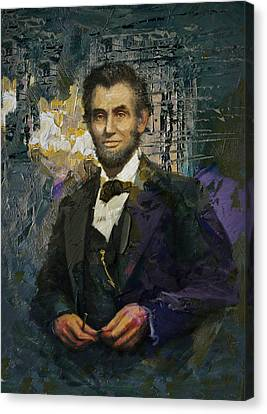 Abraham Lincoln 01 Canvas Print by Corporate Art Task Force
