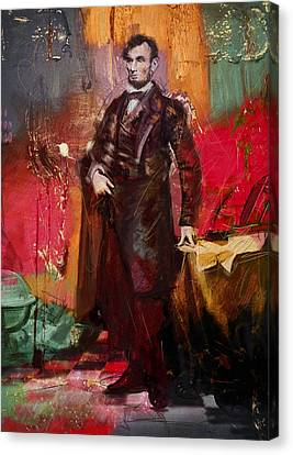 Abraham Lincoln 05 Canvas Print by Corporate Art Task Force