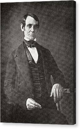 Abraham Lincoln, 1809 – 1865.  16th President Of The United States Of America.  From Abraham Canvas Print by Bridgeman Images