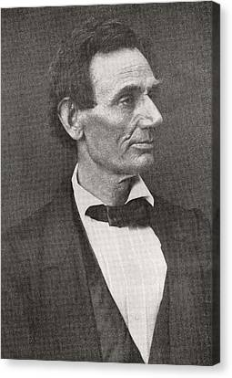Abraham Lincoln, 1860 Canvas Print by American School