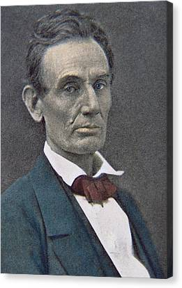 Abraham Lincoln Canvas Print by American Photographer