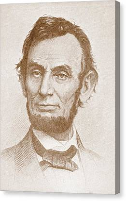 Abraham Lincoln Canvas Print by American School