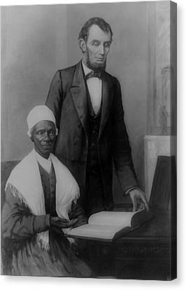 Abraham Lincoln And Sojourner Truth Canvas Print by Unknown