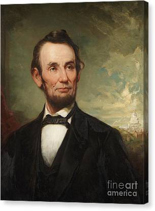 Abraham Lincoln  Canvas Print by George Henry Story