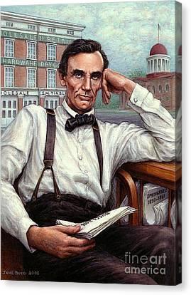 Abraham Lincoln Of Springfield Bicentennial Portrait Canvas Print by Jane Bucci