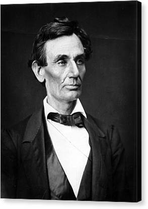 Abraham Lincoln Portrait Canvas Print by Anonymous
