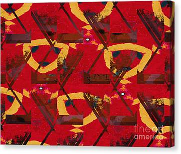 Absent Minded Redhead Canvas Print by J Burns