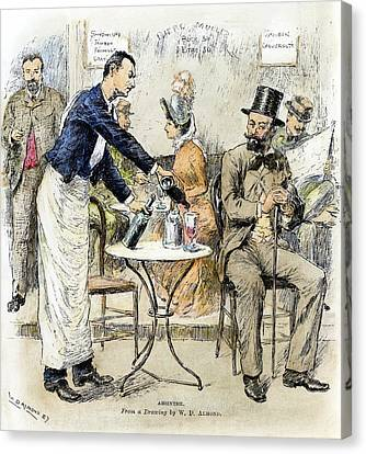 Absinthe Drinker, 1887 Canvas Print by Granger