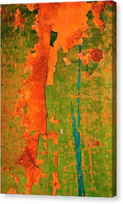 Absrtract - Rust And Metal Series Canvas Print by Mark Weaver