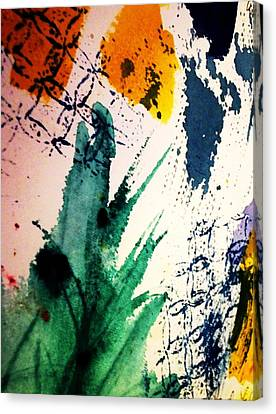 Abstract - Splashes Of Color Canvas Print by Ellen Levinson