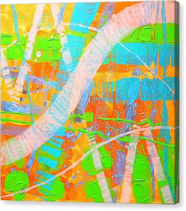 Abstract 23614  Diptych  II Canvas Print by John  Nolan