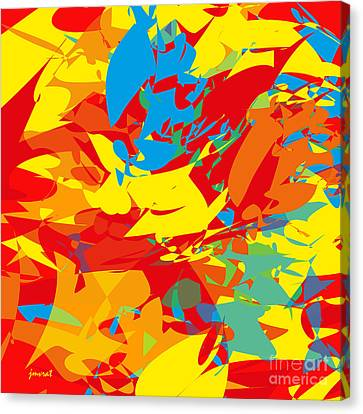 Contemporary Art M4 Canvas Print by Johannes Murat