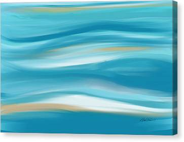 abstract - art-  Contemplation  Canvas Print by Ann Powell