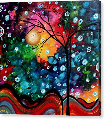 Abstract Art Landscape Tree Painting Brilliance In The Sky Madart Canvas Print by Megan Duncanson