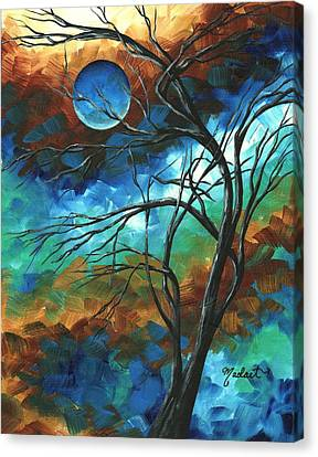 Abstract Art Original Colorful Painting Mystery Of The Moon By Madart Canvas Print by Megan Duncanson