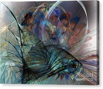 Abstract Art Print In The Mood Canvas Print by Karin Kuhlmann