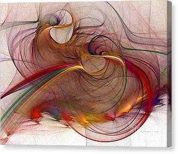 Abstract Art Print Inflammable Matter Canvas Print by Karin Kuhlmann