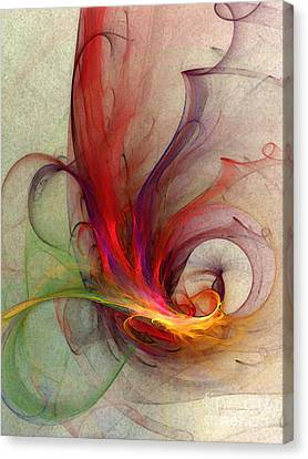 Abstract Art Print Sign Canvas Print by Karin Kuhlmann
