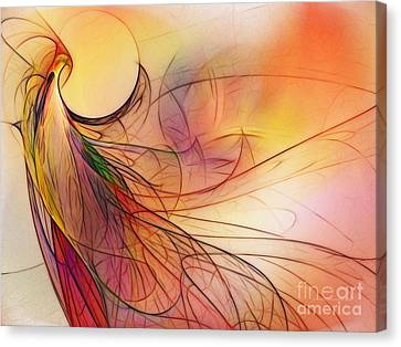 Abstract Art Print Sunday Morning Sidewalk Canvas Print by Karin Kuhlmann