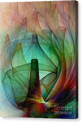 Abstract Art Print Witches Kitchen Canvas Print by Karin Kuhlmann