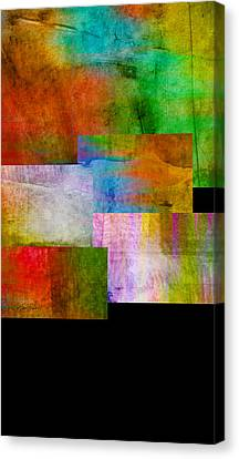 abstract art Rectangle Overlay   Canvas Print by Ann Powell