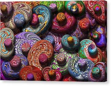 Abstract - Beans Canvas Print by Mike Savad
