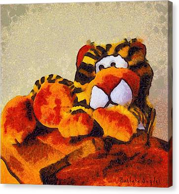 Abstract Bengal Tiger Canvas Print by Barbara Snyder