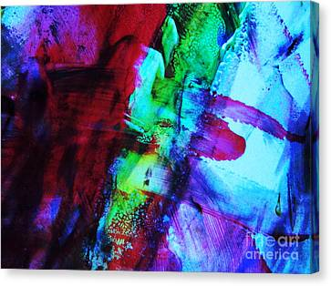 Abstract Bold Colors Canvas Print by Andrea Anderegg