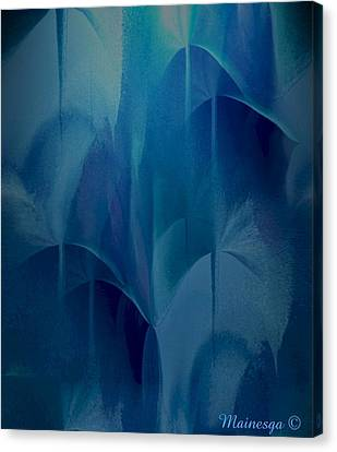 Abstract C-u-r Canvas Print by Ines Garay-Colomba