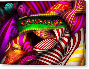 Abstract - Carnival Canvas Print by Mike Savad
