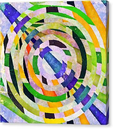 Abstract Circles Canvas Print by Susan Leggett