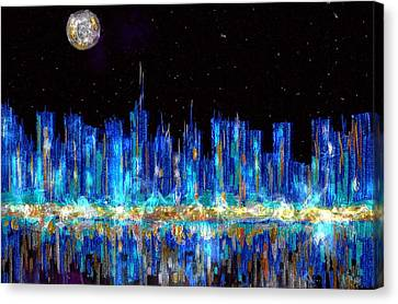 Abstract City Skyline Canvas Print by Veronica Minozzi