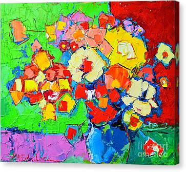Abstract Colorful Flowers Canvas Print by Ana Maria Edulescu