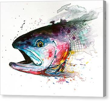 Abstract Cutthroat Canvas Print by Joel DeJong