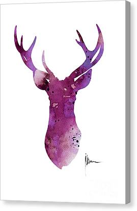 Abstract Deer Head Artwork For Sale Canvas Print by Joanna Szmerdt