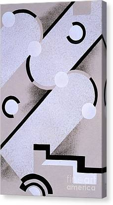 Abstract Design From Nouvelles Compositions Decoratives Canvas Print by Serge Gladky