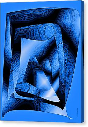 Abstract Design In Blue Contrast Canvas Print by Mario Perez