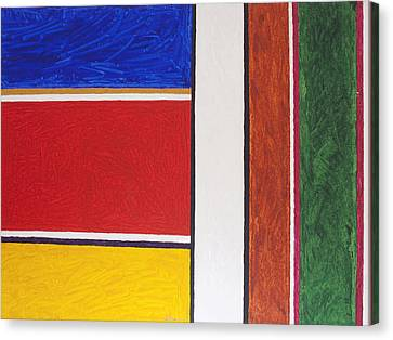 Abstract Rectangles Canvas Print by Stormm Bradshaw