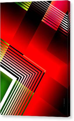 Abstract Design With Parallel Lines Canvas Print by Mario  Perez