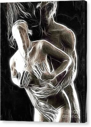 Abstract Digital Artwork Of A Couple Making Love Canvas Print by Oleksiy Maksymenko