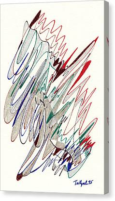 Abstract Drawing Fifty-one Canvas Print by Lynne Taetzsch