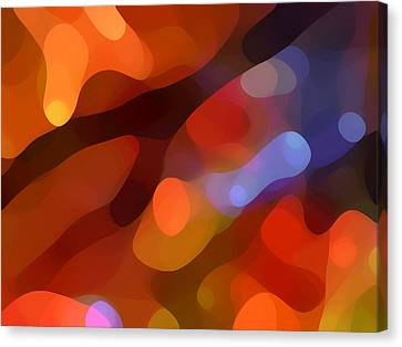 Abstract Fall Light Canvas Print by Amy Vangsgard